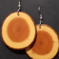 kolczyki drewniane