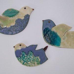 niebieskie ptaki bieszczady ceramika