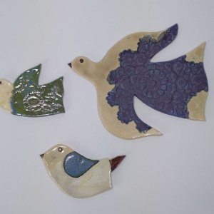 ptaki ceramika bieszczady