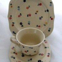 ceramika bieszczadzka zestaw do kawy